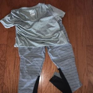 NIKE Dri Fit Leggings and Top L and XL